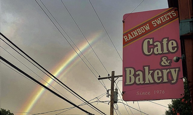 The sign at Rainbow Sweets Café & Bakery - COURTESY OF RAINBOW SWEETS CAFÉ & BAKERY
