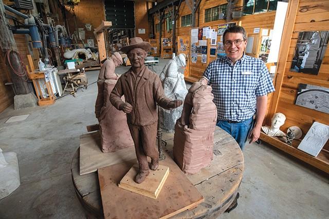 Vermont Granite Museum director Scott McLaughlin - JEB WALLACE-BRODEUR