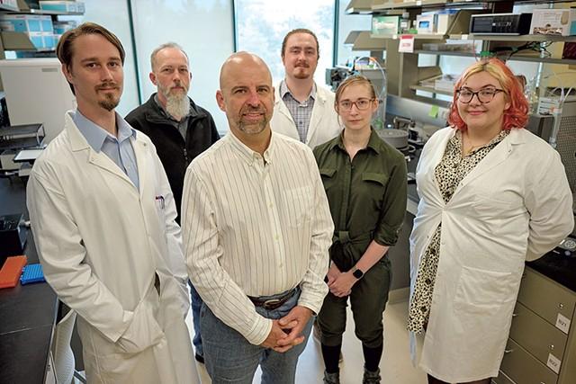 From left: John Evans, Peter Roy, Christian Cobaugh, Elias Joslin, Lynda Menard and Hana Kibe-Chartier - BEAR CIERI