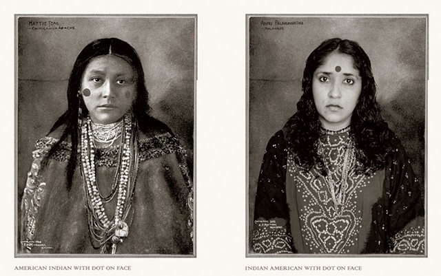 """""""American Indian With Dot on Face / Indian American With Dot on Face"""" by Annu Palakunnathu Matthew - IMAGES COURTESY OF ANNU PALAKUNNATHU MATTHEW"""