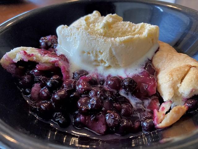 Blueberry Pie and ice Cream - MARGARET GRAYSON