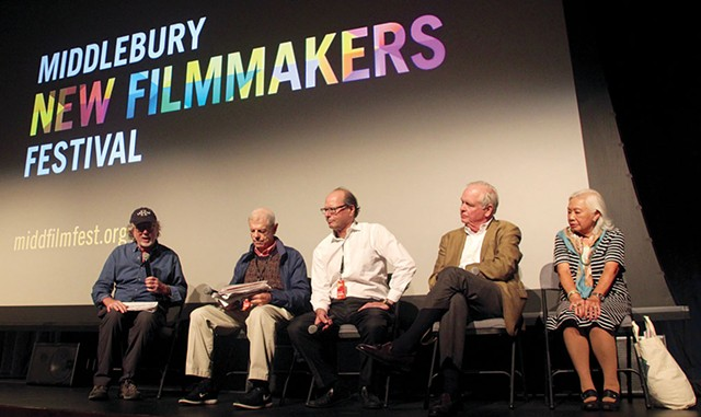 MNFF artistic director Jay Craven moderating a panel of filmmakers - COURTESY OF MIDDLEBURY NEW FILMMAKERS FESTIVAL