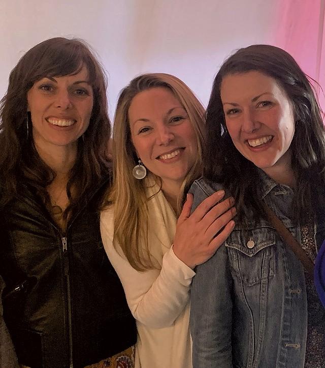 Farmhouse Sisters Jessie Upson, Katie Meyer and Lindsay Beer. - DANIELLE VISCO | COURTESY OF CRAFTSBURY FARMHOUSE