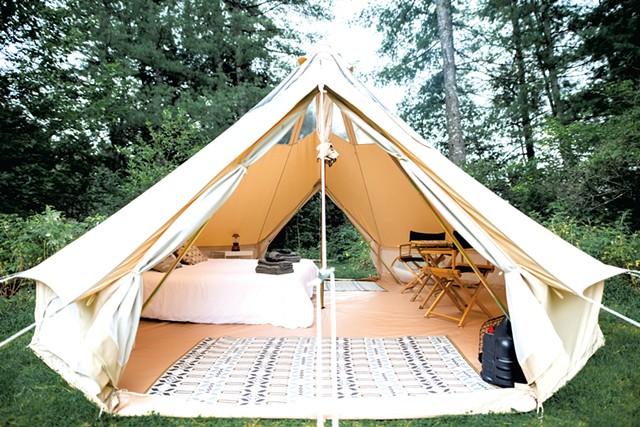 The glamping tent - DANIELLE VISCO   COURTESY OF CRAFTSBURY FARMHOUSE