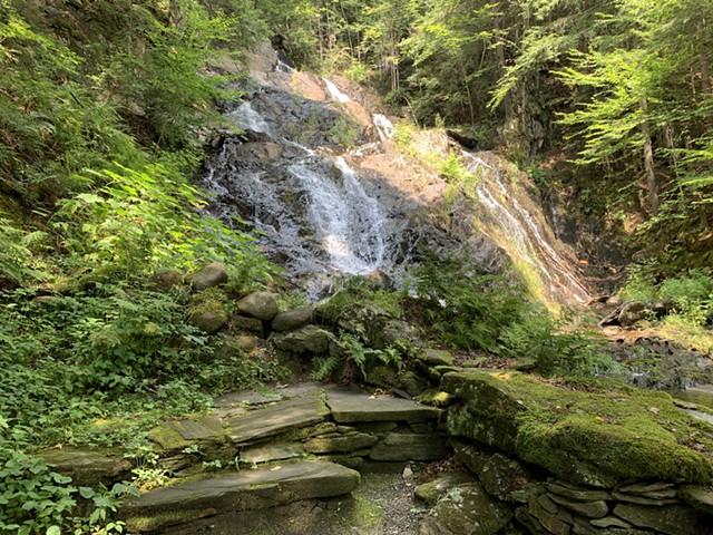 The lower falls at Jeudevine Falls - MELISSA PASANEN ©️ SEVEN DAYS