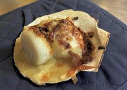 Cheddar-ale scallops - COURTESY OF BOB LESNIKOSKI