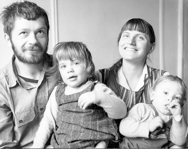 Peter and Elka Schumann with their kids Tamar and Salih - COURTESY