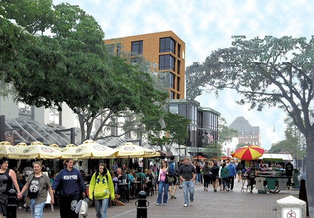 Rendering of the new Church Street entrance to the mall - COURTESY OF BURLINGTON TOWN CENTER