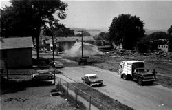 Neighborhood demolition, 1966 - COURTESY OF ADELE DIENNO