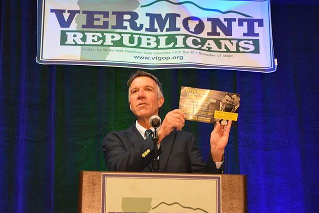 Lt. Gov. Phil Scott at Saturday's Republican State Convention in South Burlington - TERRI HALLEBECK
