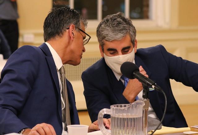 Mayor Miro Weinberger (left) and Pietro Lynn - COURTNEY LAMDIN ©️ SEVEN DAYS