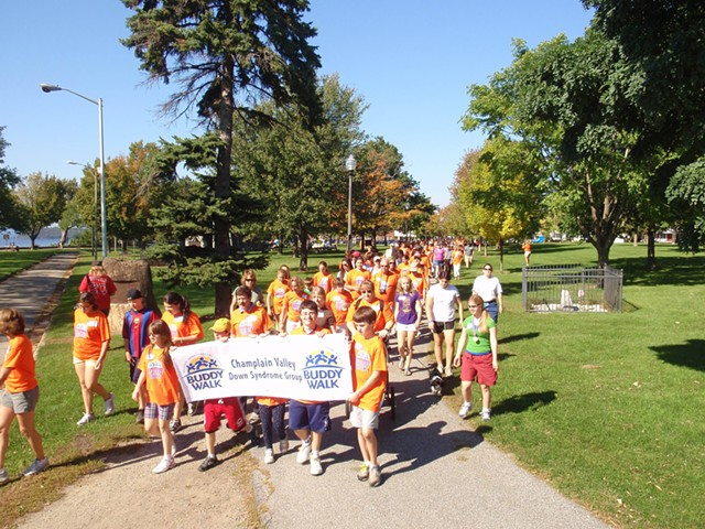 Participants in the 11thannual Champlain Valley Down Syndrome Group Buddy Walk - COURTESY