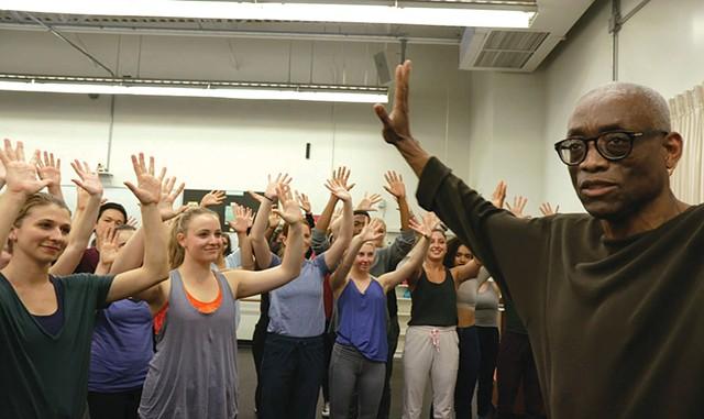 DANCE DANCE REVOLUTION Choreographer Bill T. Jones talks students through his groundbreaking work in LeBlanc and Hurwitz's documentary. - COURTESY OF KINO LORBER