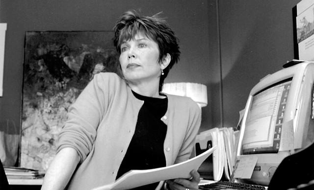 Pamela Polston in the Seven Days newsroom, circa 2001 - FILE PHOTO ©️ SEVEN DAYS