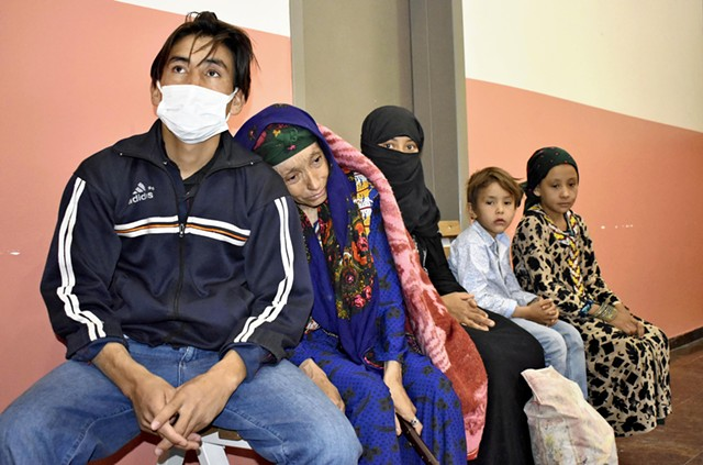 A family of Afghan refugees in Turkey last month - THE YOMIURI SHIMBUN VIA AP IMAGES