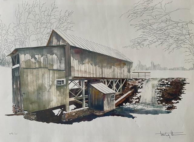 """Robinson's Sawmill"" by Tom Leytham - COURTESY OF CORNELIA EMLEN"
