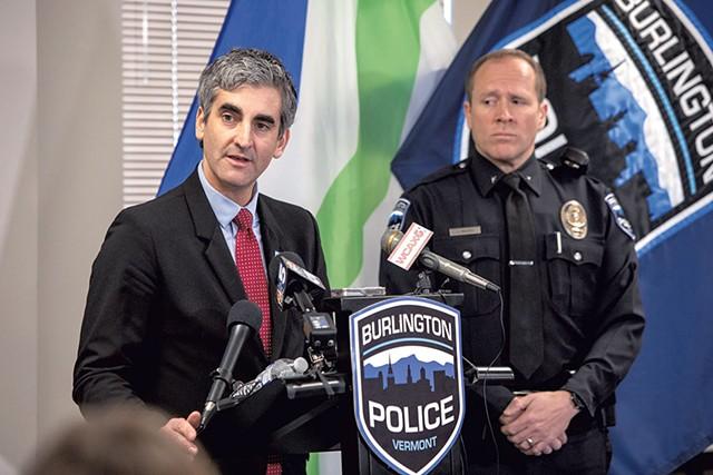 Mayor Miro Weinberger and acting Police Chief Jon Murad - FILE: LUKE AWTRY