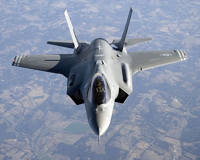 Air Force F-35 fighter, scheduled to replace the Vermont Air National Guard's F-16s - FILE PHOTO