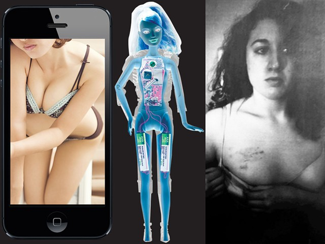 """From (left to right) """"Revenge Porn: Is Shaming Criminal?"""" 2015, """"Bad Girl Barbie"""" 2010, """"Justice for Cecily McMillan"""" 2014"""