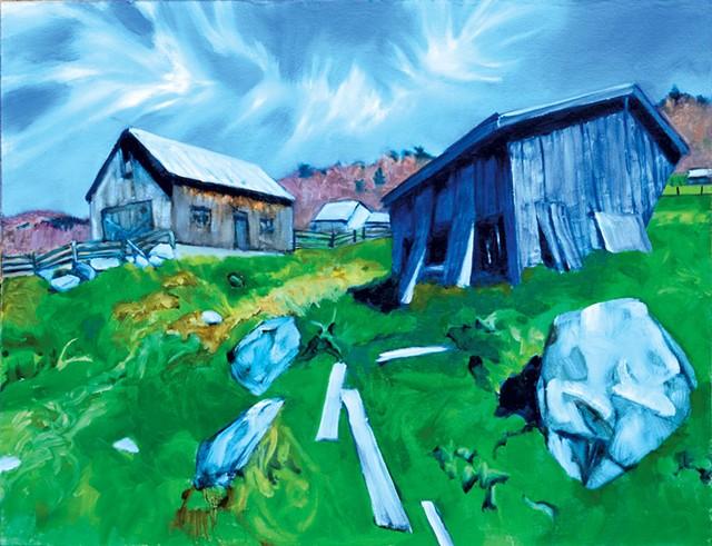 """Run-in Shed"" by Dan Fisher - COURTESY OF FURCHGOTT SOURDIFFE GALLERY"