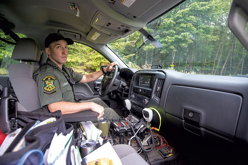 Vermont Game Warden Will Seegers patrolling the Peacham area - JEB WALLACE-BRODEUR