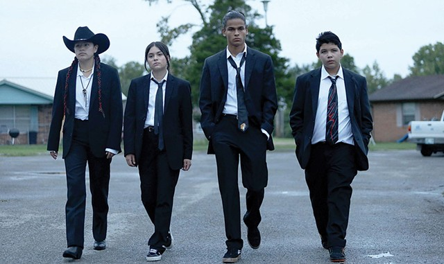 """Well Suited Four outstanding actors play a not-so-scary teen gang in Harjo and Waititi's series about life on the """"rez."""" - COURTESY OF HULU"""