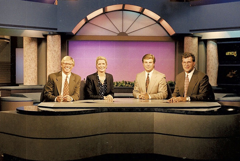 From left: Tom Messner, Erin Clark, Bob Solarski and Blaine Applegate in the early 1990s - COURTESY