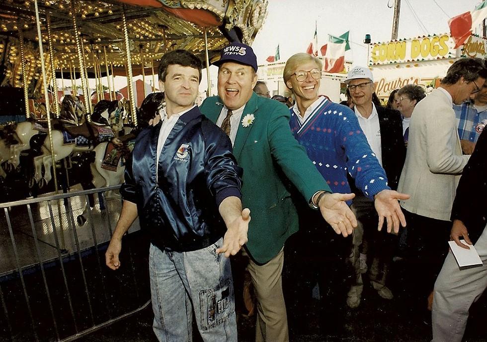 From left: Gib Brown, Willard Scott and Tom Messner - COURTESY