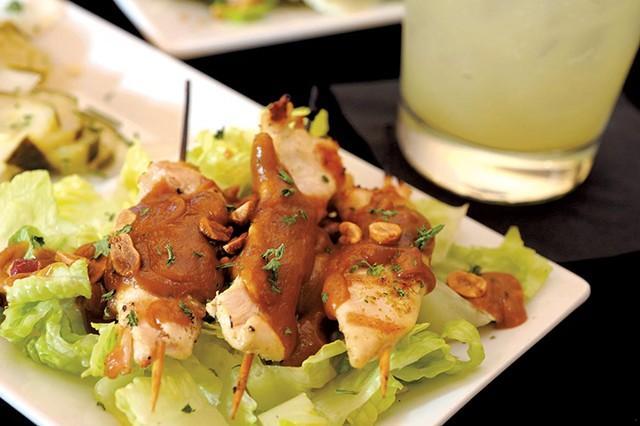 Chicken satay skewers - JEB WALLACE-BRODEUR