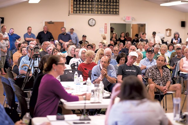 The crowded board of aldermen meeting - CALEB KENNA