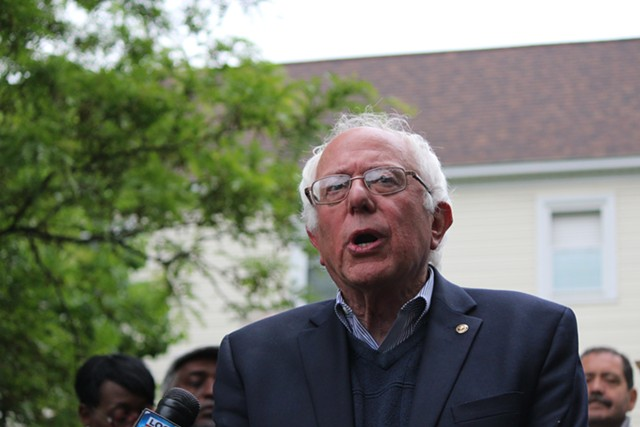 Sen. Bernie Sanders on Sunday in Burlington - FILE: PAUL HEINTZ