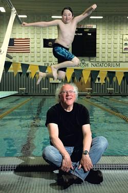 Allan Nicholls with son David - MATTHEW THORSEN