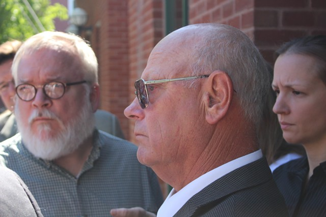 Sen. Norm McAllister outside the Franklin County Criminal Court Thursday morning after the state dropped two sexual assault charges. - PAUL HEINTZ