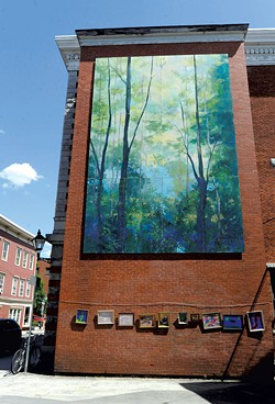 Mural by Candy Barr and Julia Purinton - JEB WALLACE BRODEUR