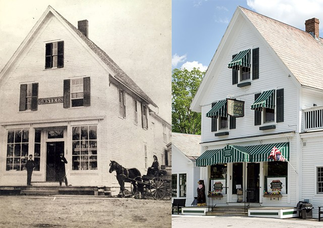 Dorset Union Store circa 1884 and today. - COURTESY OF CINDY LOUDENSLAGER | BROOKE WILCOX