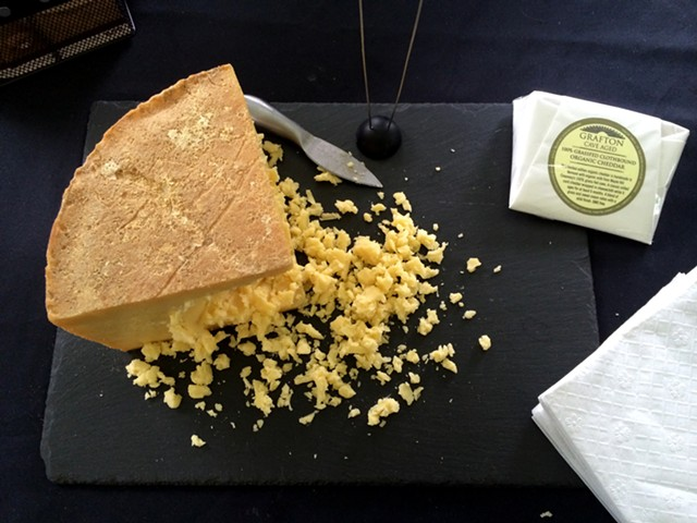 Cave-aged clothbound cheddar at the 2016 Grafton Food Festival - JULIA CLANCY