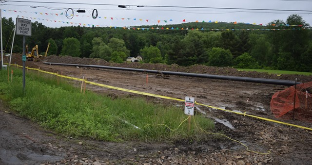 Construction last month on the Vermont Gas Systems pipeline in St. George - TERRI HALLENBECK