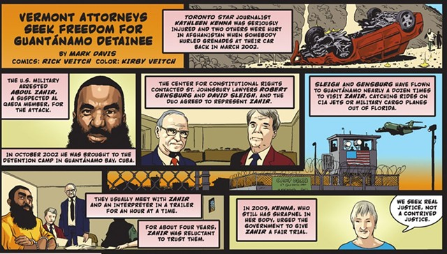 We profiled attorneys Sleigh and Gensburg in this 2015 cartoon. - RICK VEITCH AND KIRBY VEITCH