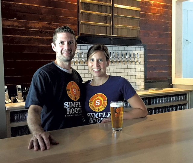 Dan Ukolowicz and Kara Pawlusiak - COURTESY OF SIMPLE ROOTS BREWING