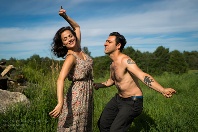 Nicole Ansari and Arash Mokhtar in Sinners - COURTESY OF CHARLIE MCATEER