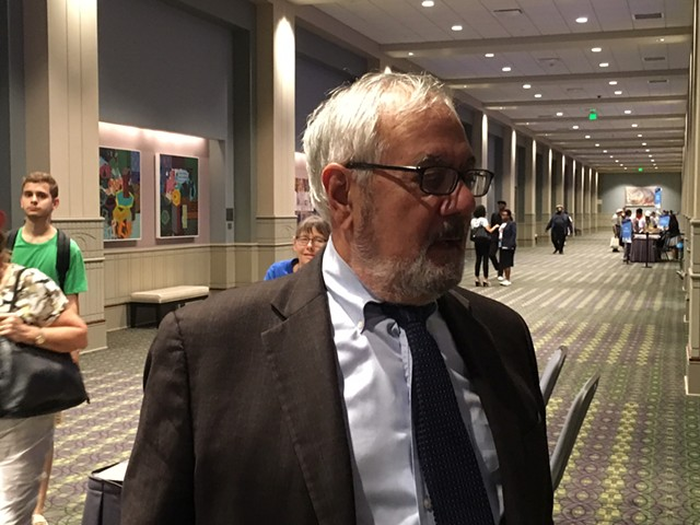 Former Congressman Barney Frank Thursday at the Pennsylvania Convention Center in Philadelphia - PAUL HEINTZ