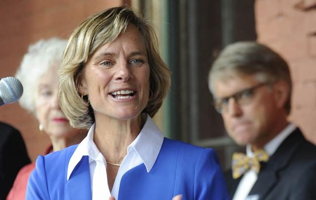Democratic gubernatorial candidate Sue Minter - JEB WALLACE-BRODEUR