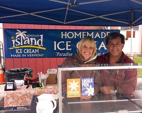 Noni Stuart and Bill Champagne - COURTESY OF ISLAND HOMEMADE ICE CREAM