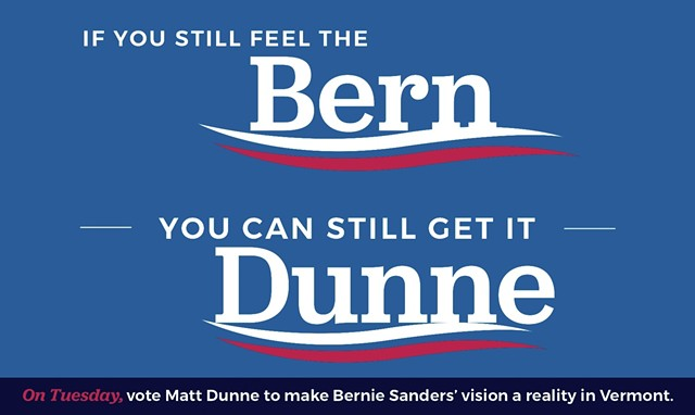 The front of a mailer sent this week by Democratic gubernatorial candidate Matt Dunne. - COURTESY OF MATT DUNNE FOR GOVERNOR