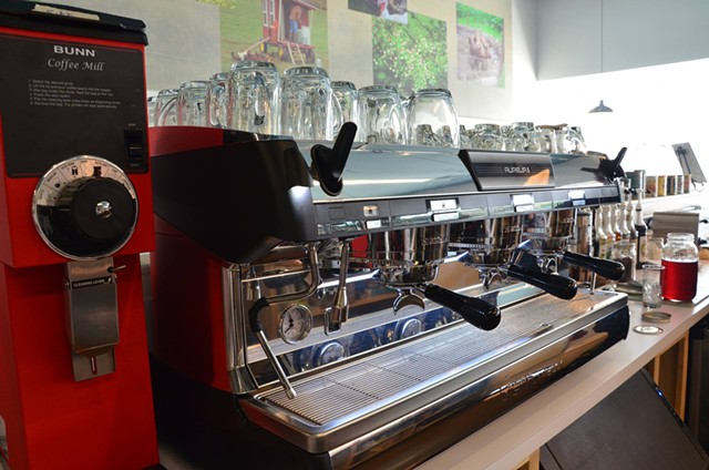 Espresso machine at Beans By the Border - COURTESY OF BEANS BY THE BORDER
