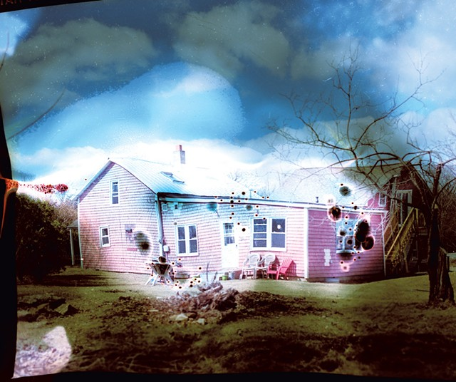 """1. """"Grand Isle Home #1,"""" color print by Mary Zompetti"""