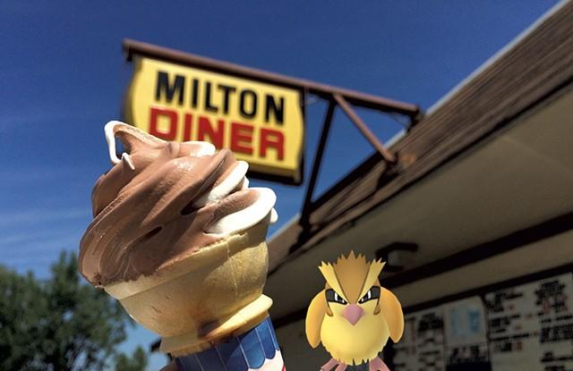 Chocolate-vanilla-twist creemee at the Milton Diner - HANNAH PALMER EGAN