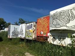 "Clarke Derbe's Truck Lot ""gallery"" - DIANE SULLIVAN"