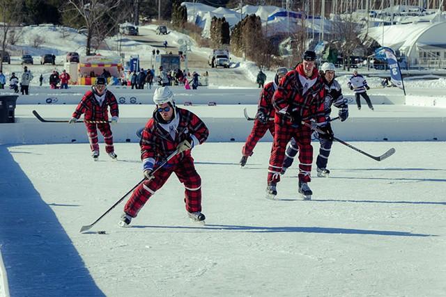 Lake Champlain Pond Hockey Classic - COURTESY OF JOE ANGER PHOTOGRAPHY
