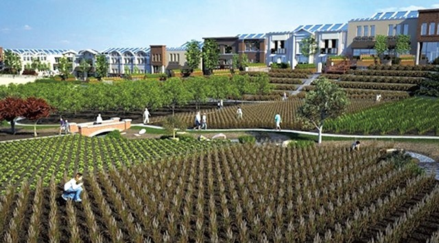A rendering of a NewVista community.